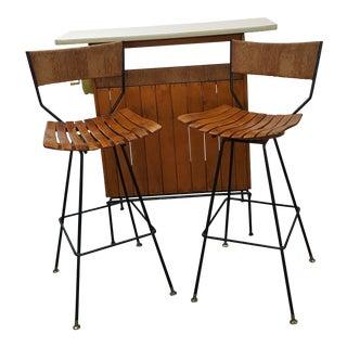 Arthur Umanoff Tiki Bar & Stools For Sale