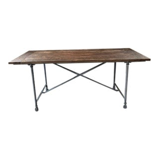 Industrial Restoration Hardware Flatiron Rectangular Dining Table For Sale