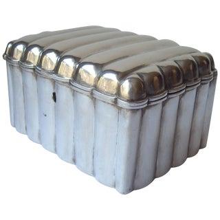 Austria, Vienna, Silver Etrog or Sugar Box With Lock, Great Modern Look For Sale