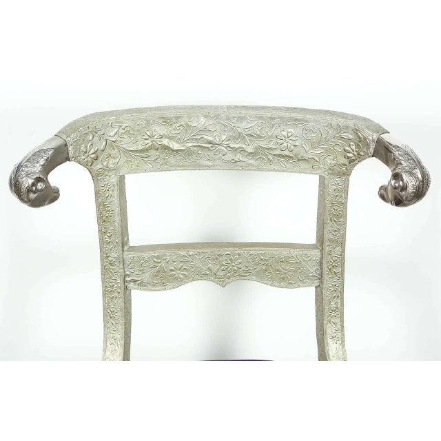 Mid 20th Century Anglo Raj Wedding Side Chair For Sale - Image 5 of 8