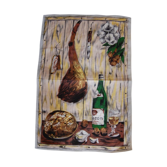 Vintage French Vony Tea Towel - Image 1 of 6