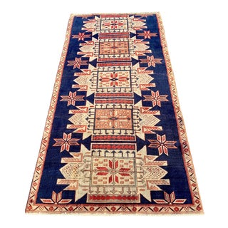 1970s Vintage Persian Karajeh Runner Rug - 3′8″ × 7′5″ For Sale