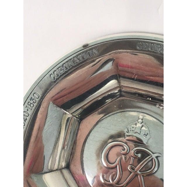 Art Deco George VI Silver Coronation Souvenir Ashtray For Sale - Image 3 of 7