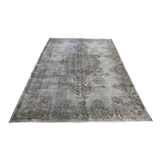 1960s Vintage Turkish Distressed Beige Rug