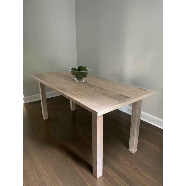 Contemporary European Style Modern Farmhouse Reclaimed Wood Dining Table or XL Desk For Sale - Image 3 of 12