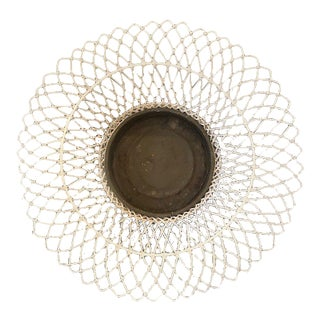 Antique French Wire Planter For Sale