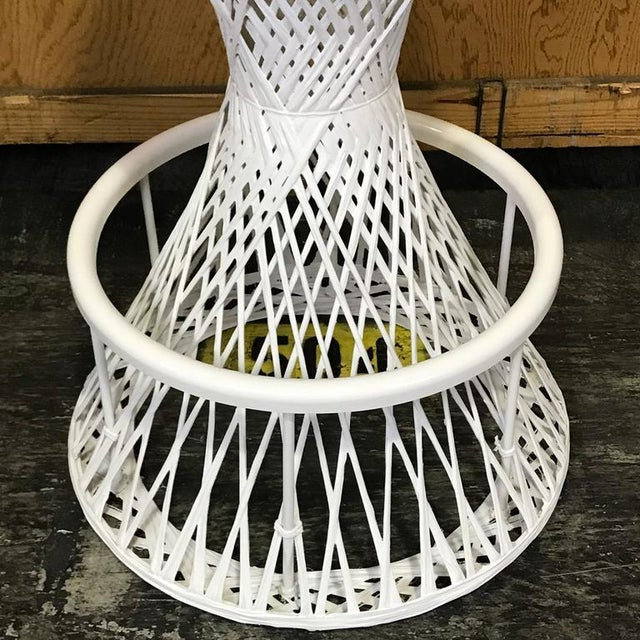 Woven and Spun Fiberglass Bar Stools by Robert Woodard - A Pair For Sale In West Palm - Image 6 of 9