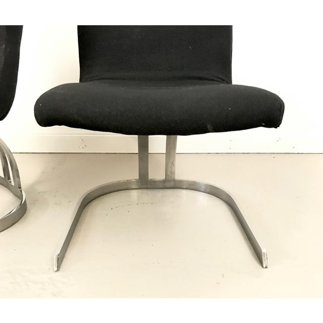 1960s Pair of Cantilevered Scimitar Base Chairs For Sale - Image 5 of 8