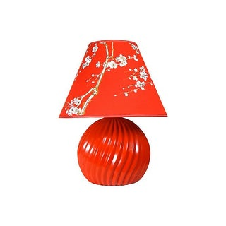 Vibrant Red Cherry Blossom Lamp