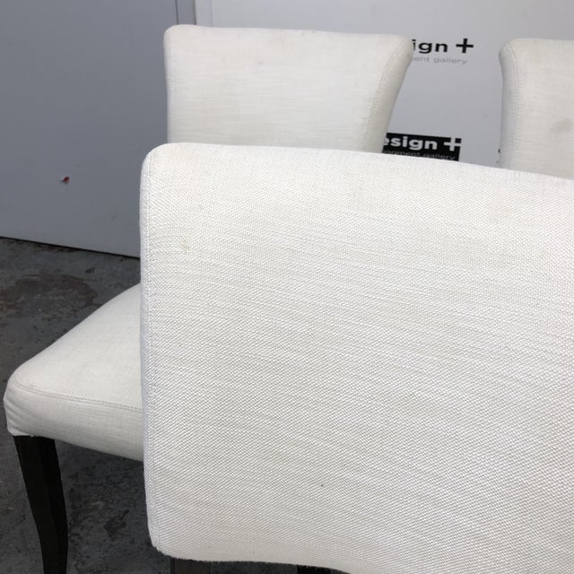 White Set of Five Restoration Hardware Adèle Fabric Side Chairs For Sale - Image 8 of 13