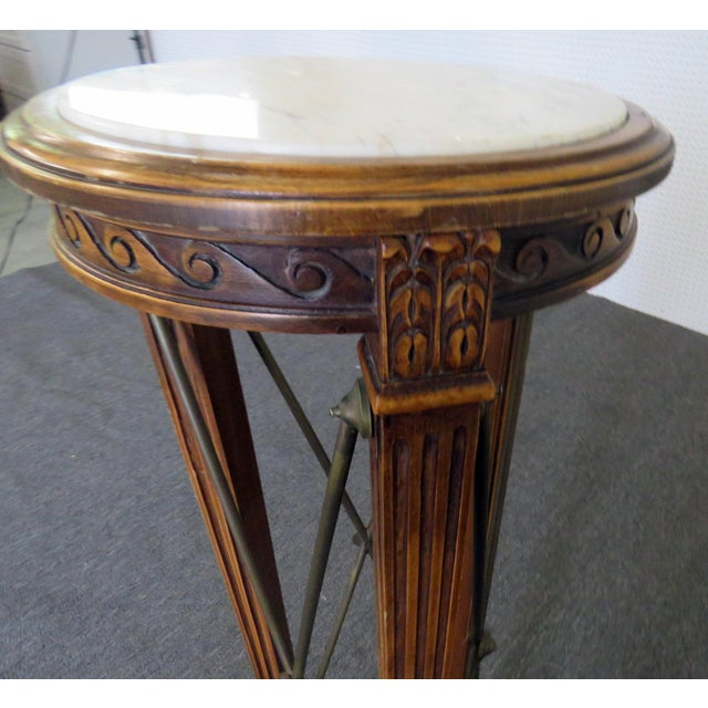 20th Century Regency Grosfeld House Marble Top Pedestal For Sale In Philadelphia - Image 6 of 10