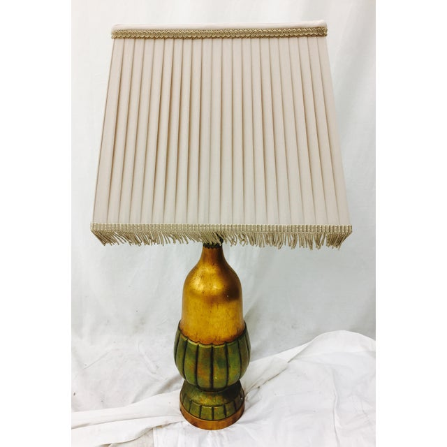 Vintage Gold Tone Table Lamp For Sale - Image 11 of 11