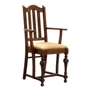 Antique Mission Style Armchair, Refinished For Sale
