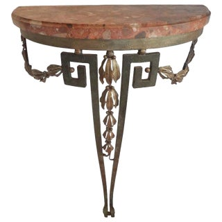 19th Century French Louis XVI Style Console Table With Marble Top For Sale