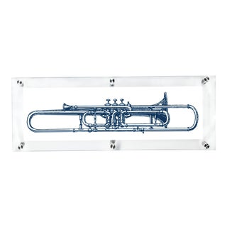 "Mitchell Black Home ""Valve Trombone"" Acrylic Framed Wall Art For Sale"
