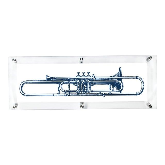 "Mitchell Black Home ""Valve Trombone"" Acrylic Framed Wall Art For Sale"