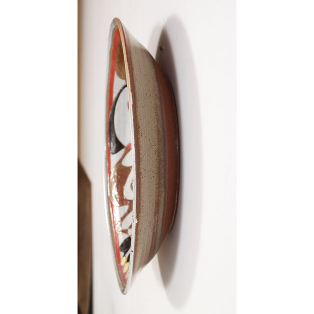 Mid 20th Century Art Pottery Incised Harlequin Jester Wall Charger For Sale In Providence - Image 6 of 9