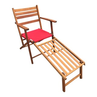 1930s Era Danish Modern Convertible Deck Chair For Sale