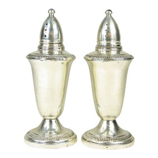 Vintage Sterling Silver Salt Shakers - a Pair For Sale