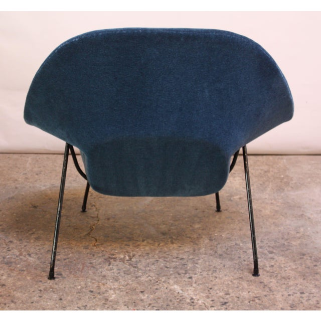 Metal 1950s Early Production Eero Saarinen for Knoll Womb Chair and Ottoman - a Pair For Sale - Image 7 of 13