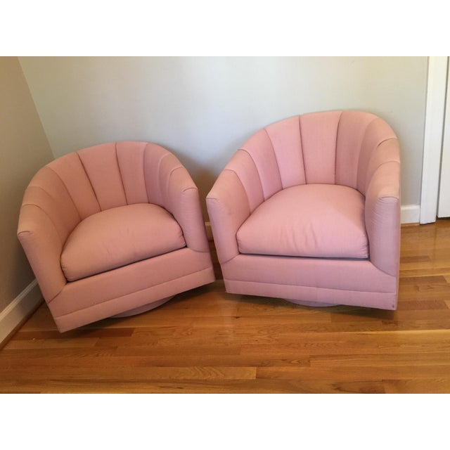 Hollywood Regency Channel Swivel Chairs - A Pair - Image 11 of 11