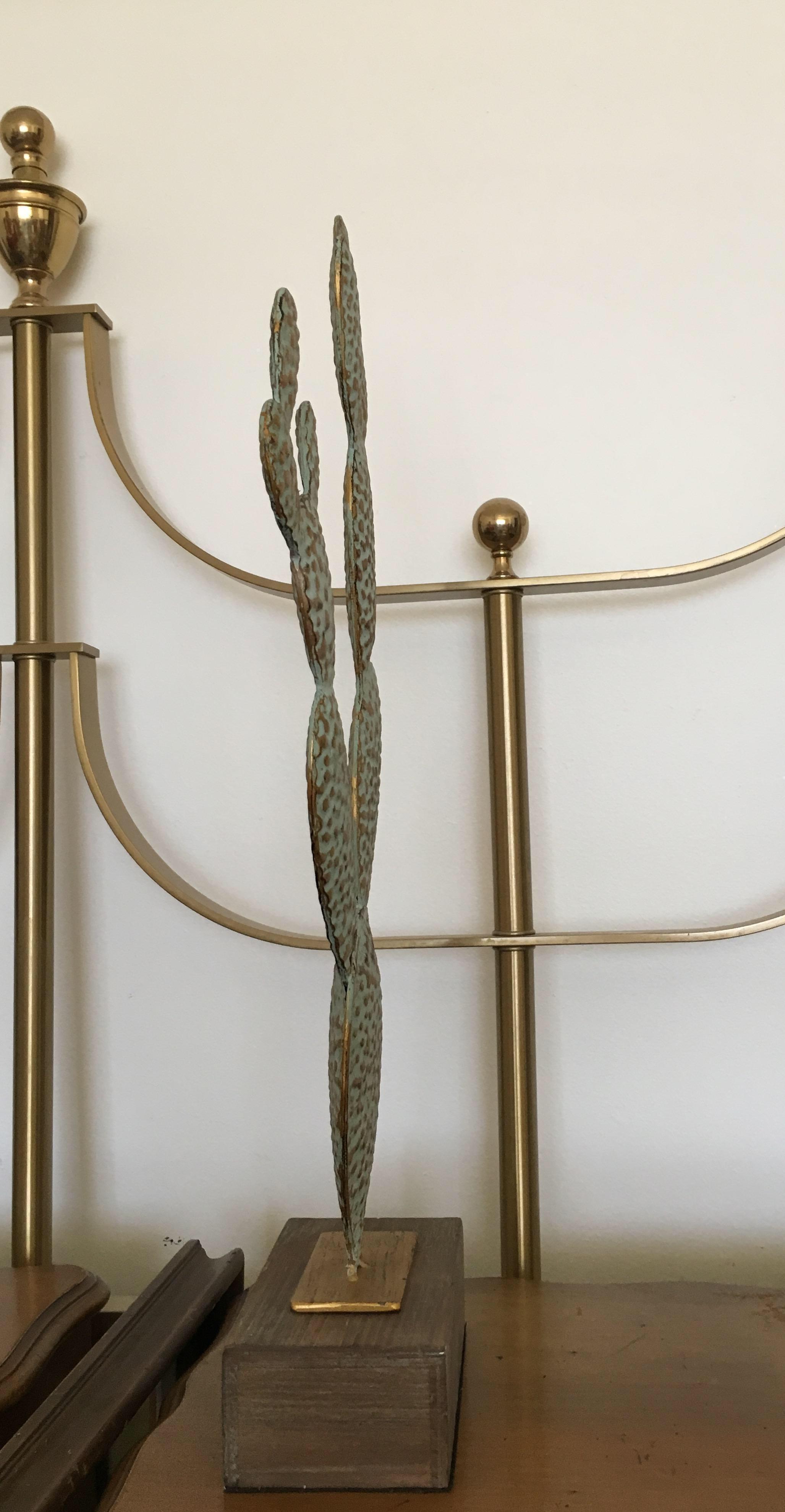 Metal Modern Cactus Sculpture Chairish