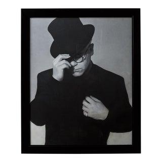 Large Black and White Elton John Framed Print For Sale