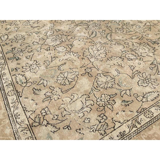 Cotton Oversized Antique Oushak Area Rug For Sale - Image 7 of 11