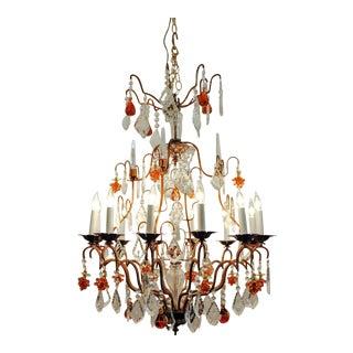 Venetian Murano Crystal Fruit Design Chandelier