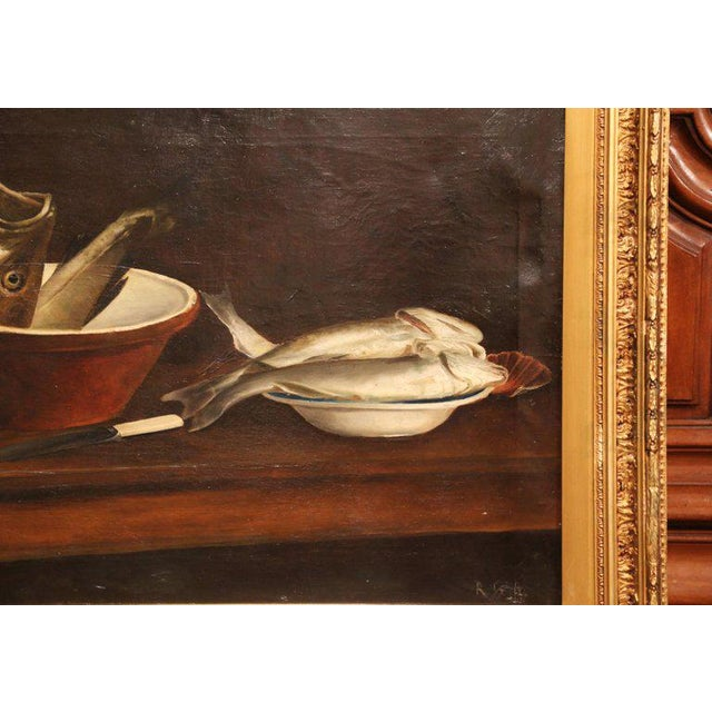 English 19th Century English Still Life Painting in Gilt Frame Signed and Dated 1847 For Sale - Image 3 of 6