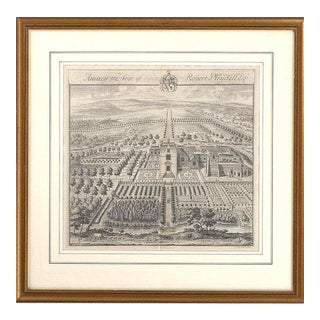 """Amney, the Seat of Robert Pleydell, Esq."" Copperplate Engraving For Sale"