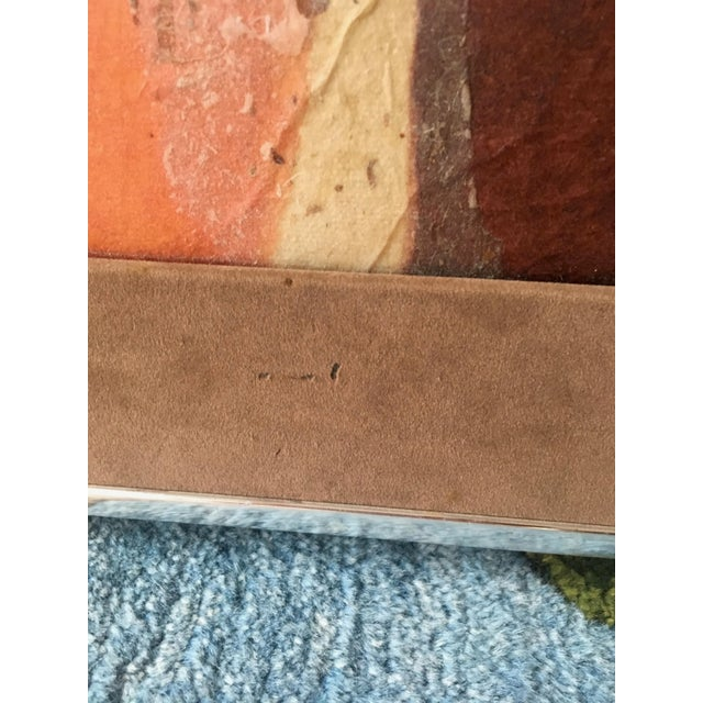 Canvas Large Mid-Century Abstract Mixed Media Collage by Tom Paar For Sale - Image 7 of 9