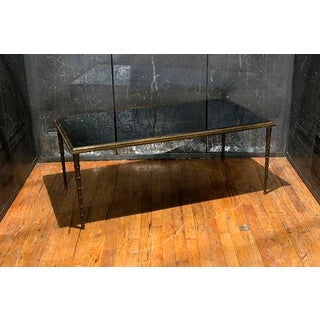 French Silver Leaf Table With Black Marble Top Preview