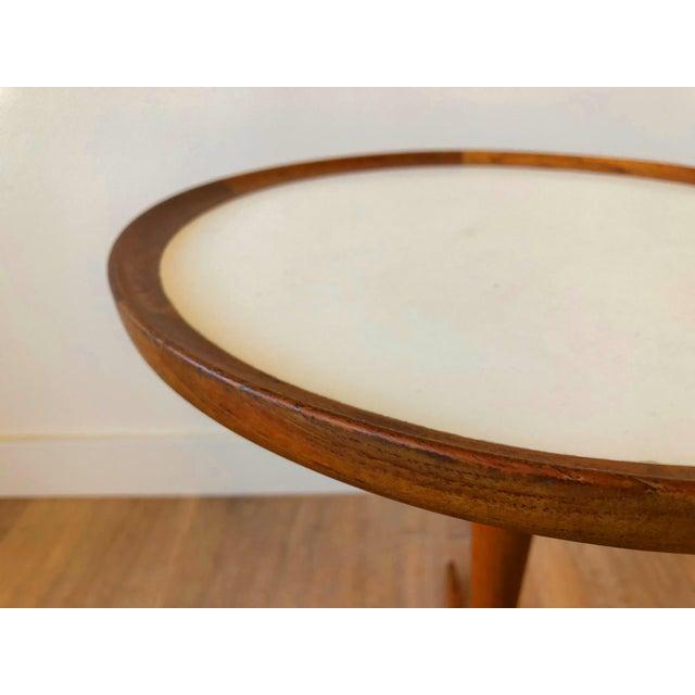Mid-Century Modern Hans Anderson Mid-Century Danish Teak Pedestal Accent Table For Sale - Image 3 of 8