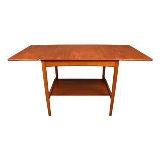 1950's Vintage Hans Wegner Danish Modern AT32 Teak Side Table For Sale