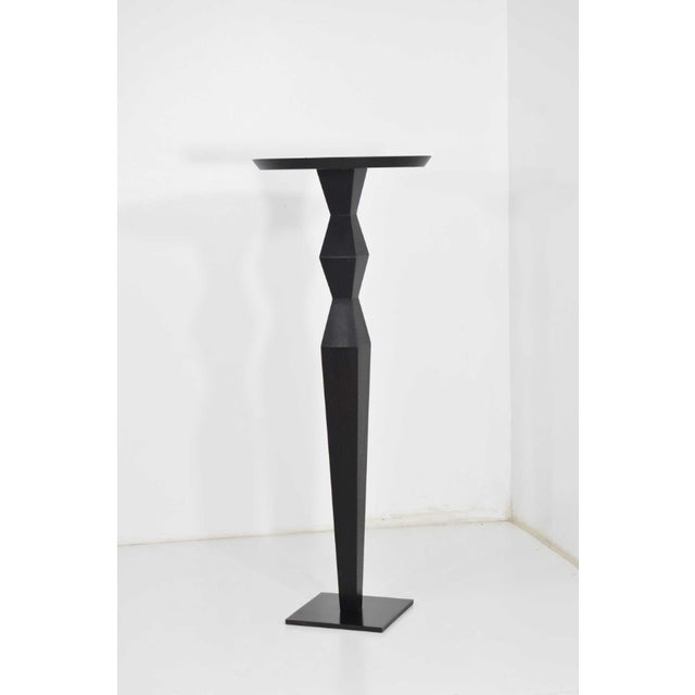 Christian Liaigre for Holly Hunt Ebony Oak Pedestal For Sale In Dallas - Image 6 of 7