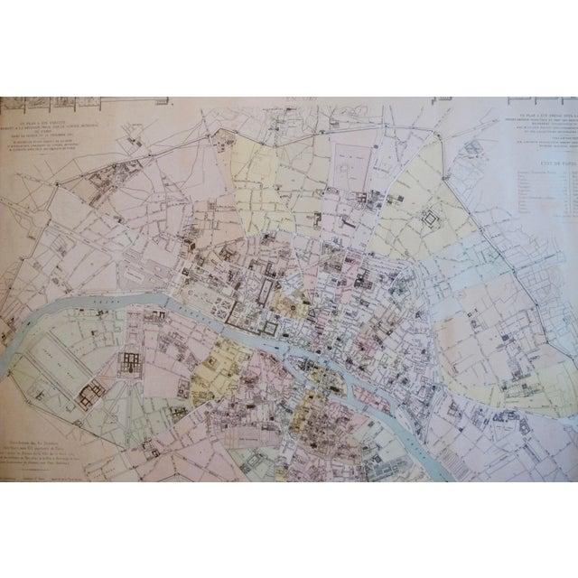 Late 19th Century 1887 Original French Map of Paris, La Ville De Paris en 1789 For Sale - Image 5 of 6
