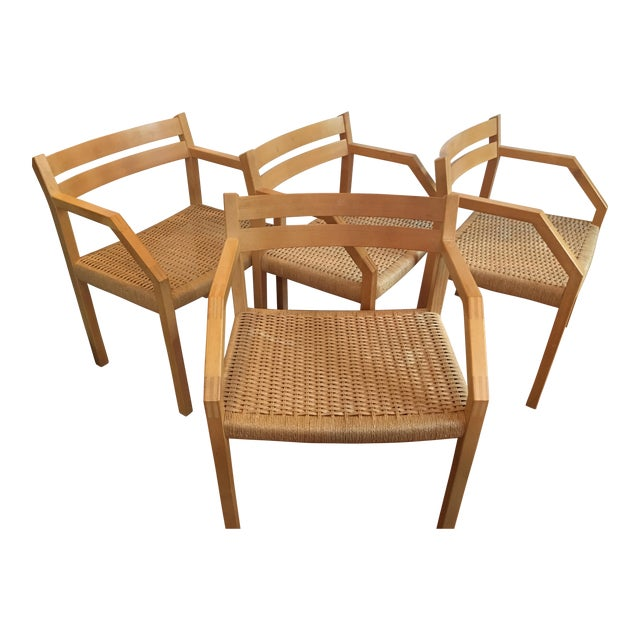 J. L. Moller Model #404 Birch Chairs - Set of 4 For Sale