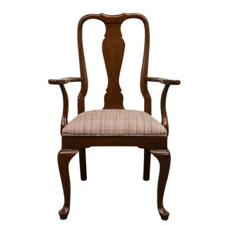 Late 20th Century Ethan Allen Georgian Court Dining Arm Chair For Sale