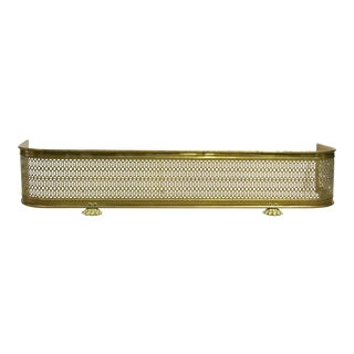 Brass Paw Foot Fireplace Fender For Sale