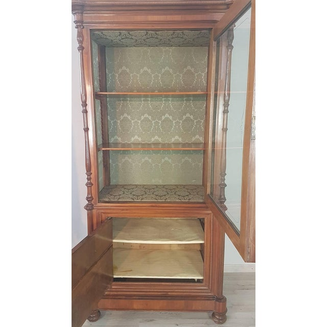 19th Century Italian Charles X Cherry Wood Cabinet For Sale - Image 9 of 13