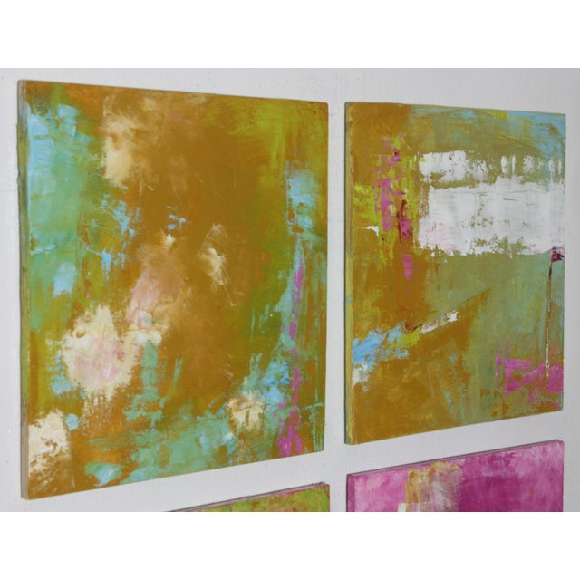 "Original Abstract ""Spring Colors"" Oil on Board Painting by Paul Ashby - Image 2 of 3"