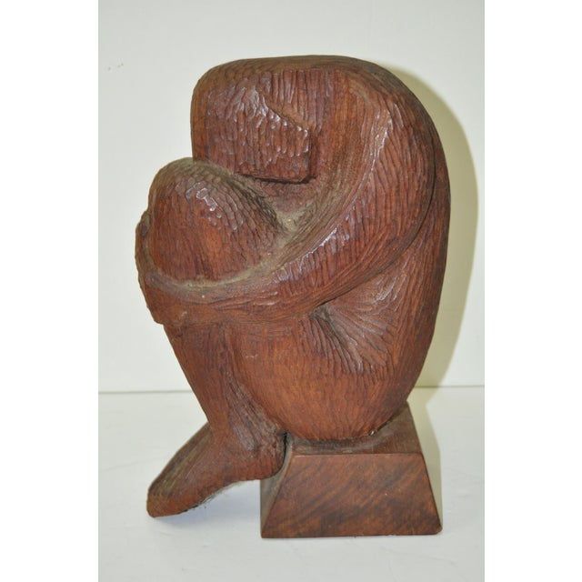 Mid Modern Wood Sculpture C.1960 - Image 2 of 7