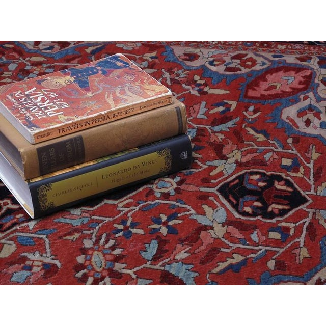 Mid 19th Century Antique Feraghan Sarouk Rug For Sale - Image 5 of 10