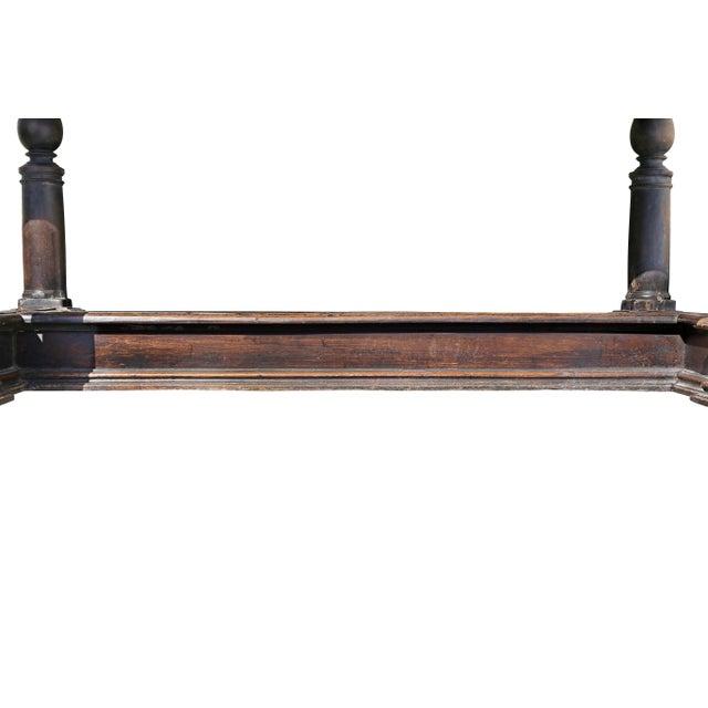 Walnut Italian Baroque Walnut Side Table For Sale - Image 7 of 12