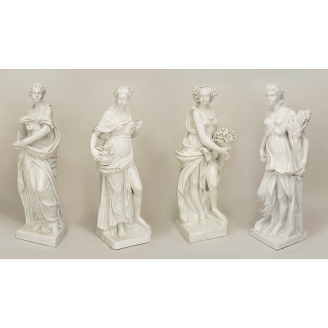 Set of 4 Large Italian Neoclassical Allegorical Figures, Circa 1850 For Sale In New York - Image 6 of 6
