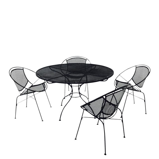Salterini Outdoor Patio Dining Table & Chairs- Set of 5 - Image 1 of 6