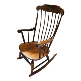 Nichols & Stone C.70's Maple Rocking Chair/Stencil For Sale