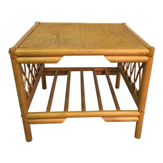 Rattan & Caned Top Side Table