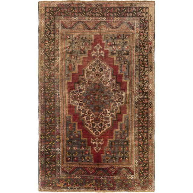 "Vintage Konya Anatolian Turkish Rug- 7'6"" X 12'2"" - Image 1 of 2"